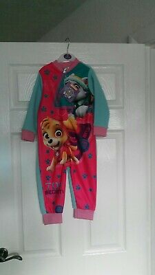 Girls Paw Patrol All In One Sleep Suit Size 18-24ms
