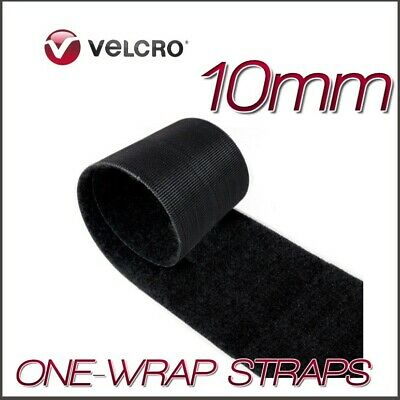 VELCRO® Brand ONE-WRAP 10mm Double Sided Hook & Loop Straps Black Strips