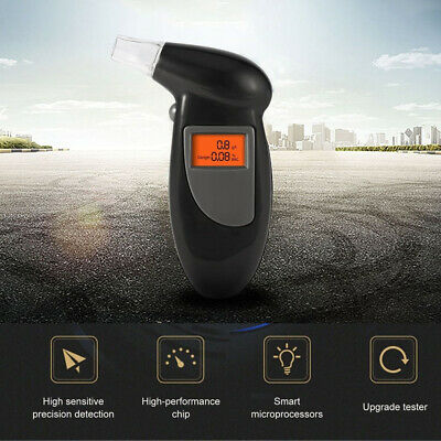 Portable Alcohol Breathalyser Breath Tester Accurate Digital Display LCD Light