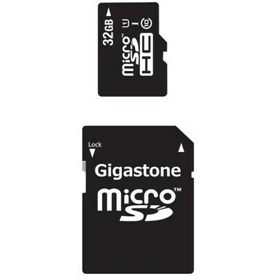 New Gigastone GS-2IN1C1032G-R Class 10 UHS-1 microSDHC Card & SD Adapter (32GB)