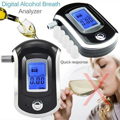 Alcohol Breathalyser Portable Breath Tester Accurate Digital Display LCD Light
