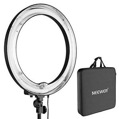 Neewer 75W 600W 5500K Camera Photo Ring Fluorescent Flash Light flexi arm + Case