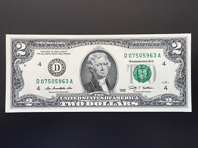 2009  $2 TWO DOLLAR NOTE ( Cleveland) ,UNCIRCULATED