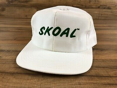 912723133 VINTAGE SKOAL CHEWING Tobacco White Snapback Baseball Hat Cap Green Logo USA