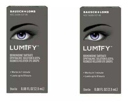 Lumify Eye Drops - SET OF (2) .08 oz (2.5 mL) EX 05/2020 Redness Relief