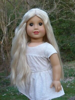 WIG from Julie American Girl Doll Blonde Hair Parts Repair Custom TLC