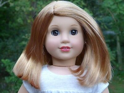 WIG from new TM #37 American Girl Doll Red Hair Parts Repair Custom TLC