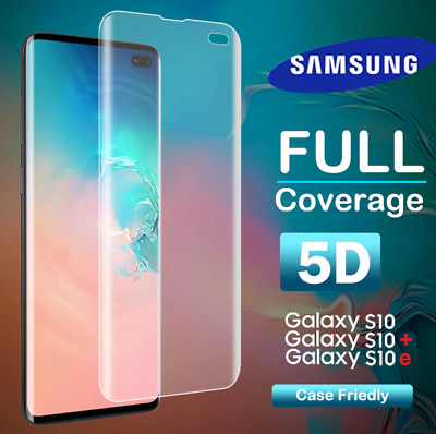 Curved Tempered Glass For Samsung Galaxy S10 S10e S10 Plus Screen Protector Film