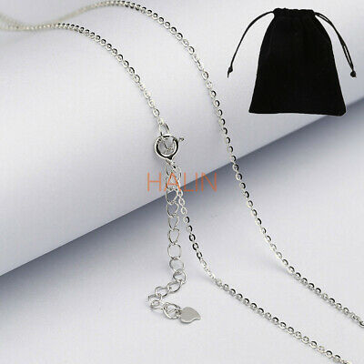 """925 Sterling Silver CABLE Chain Necklace Lobster Lock-Stamped 925 Italy 14""""-24"""""""