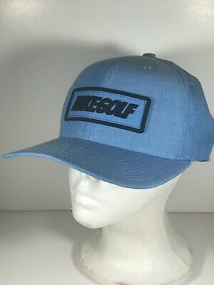 3f2bbd59a844c NIKE GOLF LIGHT Blue Brown Leather Strapback Hat -  25.00