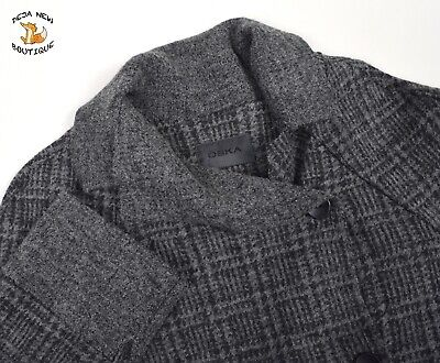 OSKA Womens Oversized Check Jacket WOOL Short Coat Quirky Blazer sz 1 S 10 8 33446211e