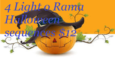 Current (1991-Now) NEW LIGHTORAMA HALLOWEEN SEQUENCE  LIGHT-O-RAMA The Addams Family Theme Song