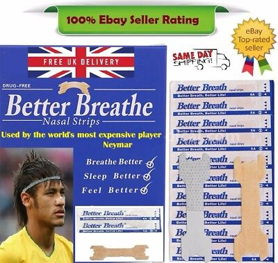 Nasal strips better breath Stop Snoring Breathe Easier UK p&p