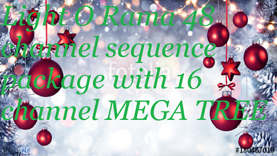 Light O Rama 48 Channel Christmas sequence Package  with MEGA TREE