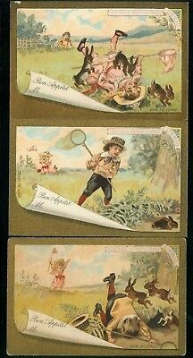 LIEBIG  : S_T02 : 'Children and Hares 1892 A 3/6 EP FR