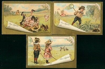 LIEBIG  : S_T02 : 'Children and Hares 1892 B 3/6 EP FR