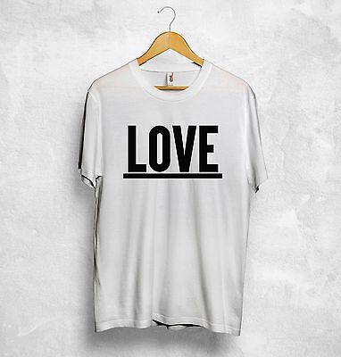 Love T Shirt Hubby Wifey Wedding Honeymoon Holiday Boyfriend Girlfriend Couple