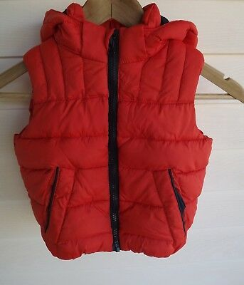 Lily & Dan Size 3 - Orange Blue Puffer Vest