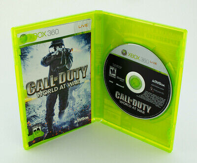 Call of Duty: World at War (Microsoft Xbox 360, 2008) Video Game. Complete set.