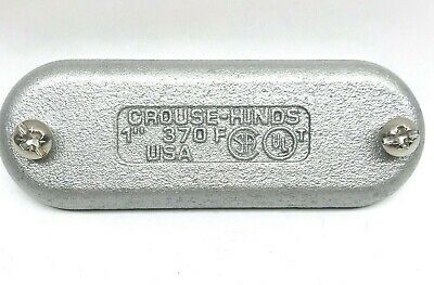 """Eaton Crouse-Hinds 1"""" Conduit Body Cover 370Fg Form 7 Body With Gasket"""