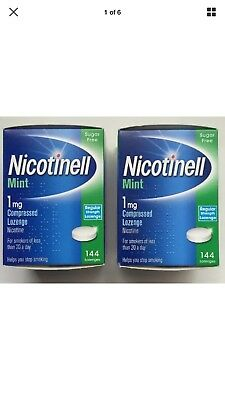 NICOTINELL MINT (2 boxes)1mg Compressed 144 Lozenges
