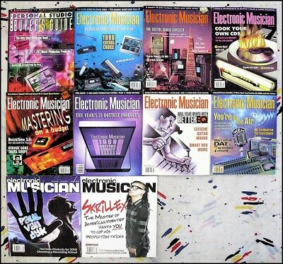Electronic Musician Magazine - Miscellaneous - 10 Issues from 1998, 1999, 2012