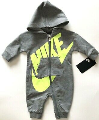 d208c3e7f907 Nike Futura Romper Baby Infant Hoodie Coverall Bodysuit Boys Size 3 Months
