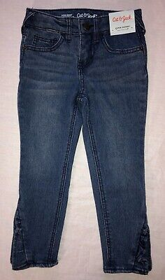 f79e6326b602b NEW NWT Girls Size 5 Cat & Jack Super Skinny Stretch Adjust Denim Blue Jeans