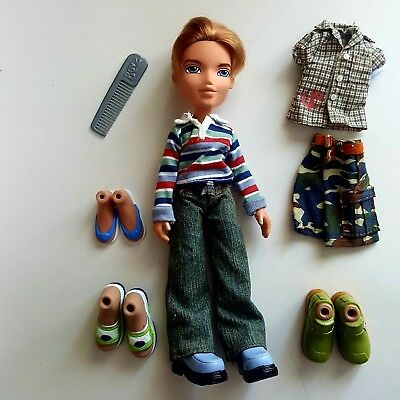 MGA Bratz Boyz Cameron Doll Blonde Hair Blue Eyes With Extra Outfit & Shoes