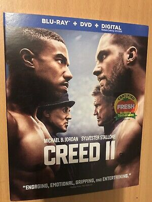 Creed II  (Bluray + DVD + Digital HD)Brand New Sealed w/Slipcover Same Day Ship