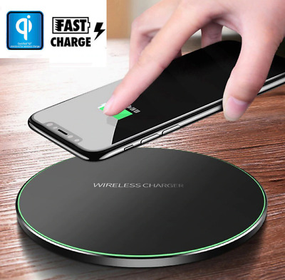For Samsung Galaxy S8 S9 S10 Plus QI Wireless Charger Fast Charging Dock Mat Pad