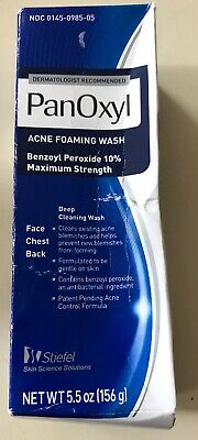 Panoxyl Benzoyl Peroxide 10% Foaming Acne Wash 5.5oz -Exp 10/20