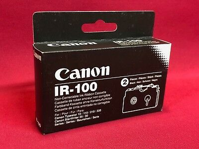 Genuine Canon IR-100 IR100 Non Correctable Ink Ribbon Cassette Twin Pack Black