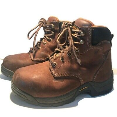 5a11c720209 BRAHMA WOMENS BROWN Leather Steel Toe Lace up Waterproof Work Boots ...