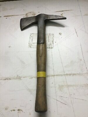 Firemans Leather Belt With Wooden Handle Axe