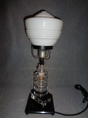 Art Deco Machine Age Lucite Lamp c, 1940 - 1st Edition