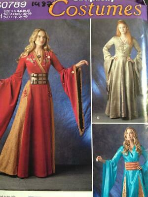 SIMPLICITY SEWING PATTERN 0789 1487 Misses Game Of Thrones Medieval Size  6-12 UC