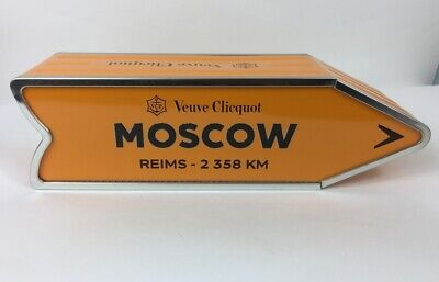 Veuve Clicquot Arrow Collectible Champagne Tin Moscow Journey Street Sign