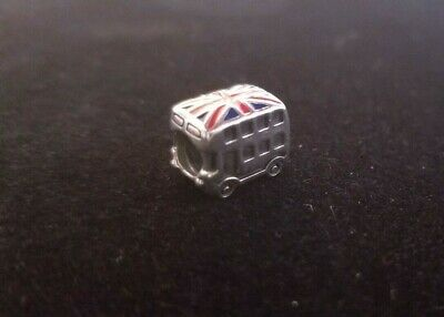 London Bus Authentic Pandora Sterling Silver Charm (Retired)