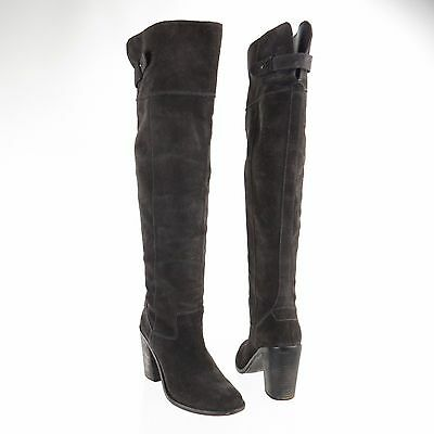 9d3b5b25827 WOMEN S DOLCE VITA Okana Shoes Brown Suede Over the Knee Boots Size ...