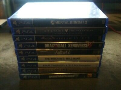 LOT OF 9 PS4 Games GTA, Witcher 3, Fallout 4, Mortal Kombat ETC