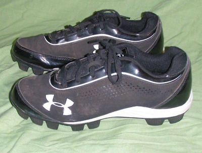 new product b8891 ae325 Under Armour Leadoff IV Low Jr Youth Size 5.5 Black Baseball Cleats Used  Shoes