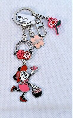 Disney Epcot Flower & Garden 2019 Keychain Minnie Happiness Blooms From Within