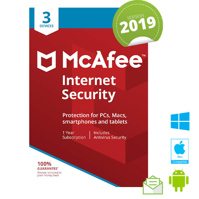 McAfee Internet Security 2019 3MULTIDEVICE 1YEAR GLOBAL ACTIVATION NOT 2018