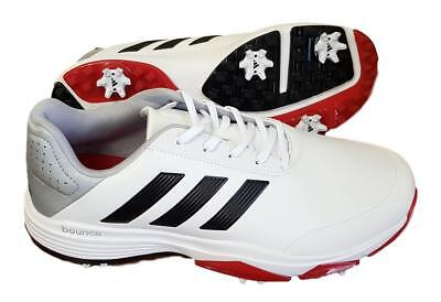 Adidas Adipower Bounce Wd Golf Shoes - Mens Size 9.0 Us - White/Black/Red -Nib