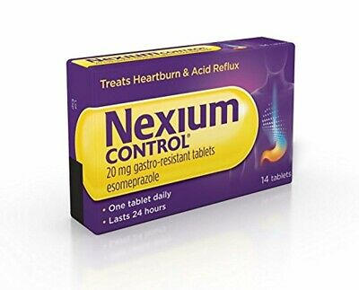Nexium Heartburn Acid Reflux Tablets Control Reducer Relief Pack Of 14 20mg Tabs