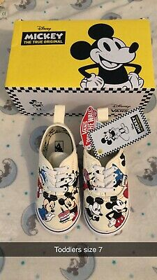 Toddlers Disney Mickey Mouse Vans Shoes - Size 7 - Brand New