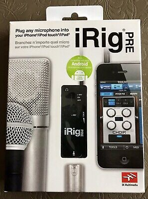 IK Multimedia iRig Pre Mic Interface for iPhone/iPod touch/iPad and Android