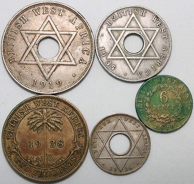 Mix Of British West Africa Coins | Bulk Coins | KM Coins