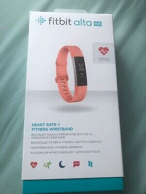 Fitbit Alta HR Heart Rate Activity Tracker, Size Large, Coral